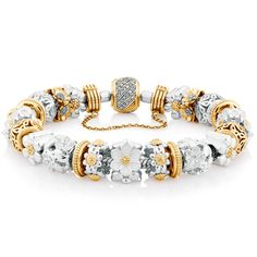 Flourish collection by Emma & Roe Pandora Bracelet Charms, Charm Bracelets, Fashion Jewellery Online, Flourish, Rose Gold, Charmed, Diamond, Floral