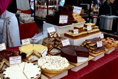 Mouth watering cakes at Broadway Market, London