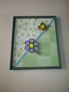 Quadro patchwork verde