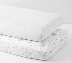 Swaddle Sun Moon and Stars: Organic Crib Sheet Bumper Crib Skirt Changing Pad Cover Baby Blanket Nursing Pillow Cover Lovey