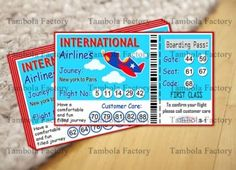 Ticket Size- x inch approx. How To Play: Each Boarding Pass housie ticket has three se Kitty Party Themes, Kitty Theme, Cat Party, Vacation Travel, Vacation Trips, Airport Theme, Disney Planes Party, Tambola Game, One Minute Games