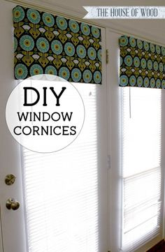 diy window cornice                                                                                                                                                                                 More
