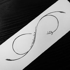 'infinity symbol' with french lettering