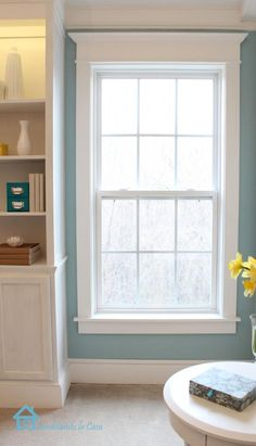 DIY Accent Wall: DIY How to Install Window Trim