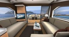 interiors of luxury yachts | interior rendering of the intermarine 55 in collaboration with bmw ...
