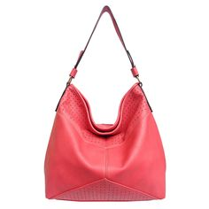 """Look for comfort this season with this easy-to-carry, laid back tote. The simplistic style identifies sophistication with it's perforated and slouch design. Carry this accessory comfortably without compromise. Zipper Top Closure. Dimensions: 15""""(L) x 5.5""""(W) x 12""""(H); Handle/Strap: 12"""""""