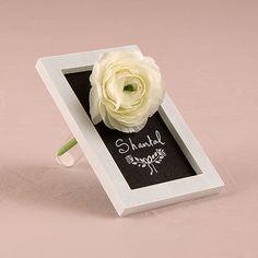 Miniature Framed Chalkboard with Glass Flower Holder - Bridal Everything