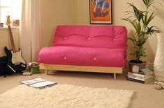 Double 4ft6 Luxury Futon 2 3 Seater Wooden Frame Sofa Bed Mattress In 11 Colours