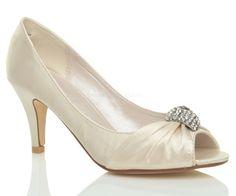 WOMENS-LADIES-WEDDING-EVENING-LOW-KITTEN-HEEL-PEEPTOE-SHOES-SANDALS-SIZE