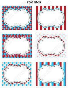 INSTANT DOWNLOAD diy Dr. Seuss Inspired  Birthday Party  PRINTABLE Food Labels favor tags Red Blue white