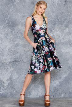 Take My Monet Velvet Midi Marilyn Dress - 7 DAY UNLIMITED ($130AUD) by BlackMilk Clothing Size: M