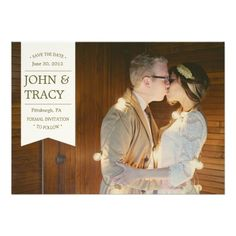 Banner Photo Save The Date Card Invitation Card