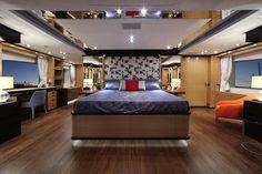 Benetti Yachts, Imagination, Main Deck, Master Cabin.   www.benettiyachts.it  #benetti #yachts #imagination #sea #design #main #deck #cabin #master