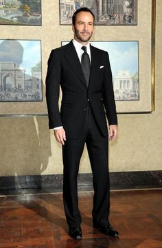 Perfectly tailored european cut suit. I would expect nothing less from Tom Ford