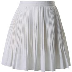 Chiffon Pleated Skirt in White ($40) ❤ liked on Polyvore