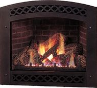 Arched fireplace insert