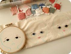 little ladies in progress by Gingermelon, via Flickr