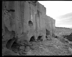Cliff dwelling ruins at Puye, New Mexico :: T. Harmon Parkhurst Photo Collection