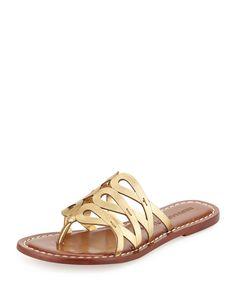 Bernardo Magnolia Leather Slide Sandal, Old Gold, Women's, Size: 6 Shoes Flats Sandals, Slide Sandals, Leather Sandals, Sneakers Sketch, Metallic Sandals, Shoe Clips, Womens Slippers, Miller Sandal, Lady