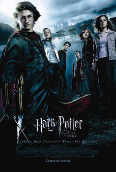 Harry Potter and the Goblet of Fire (2005). Very exciting Harry Potter movie. Everything gets a lot more serious in this one, and the actors really step up their game as a result. I've seen this one so many times! Rewatched DVD 09/28/14