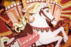 Paper Horse Carousel
