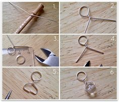 turning charms into stitch markers | Slot the ends into the bead (you may have to trim a smidge off the ...