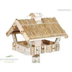 Vogelhaus mit Strohdach quadratisch
