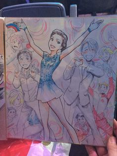 """Yuri!!! On Ice"" Character Designer Illustrates Tribute To Skater Evgenia Medvedeva"