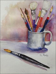 What is Your Painting Style? How do you find your own painting style? What is your painting style? Best Watercolor Brushes, Watercolor Sketchbook, Watercolor Illustration, Watercolour Painting, Watercolours, Paint Brush Drawing, Painting & Drawing, Still Life Drawing, Chalk Pastels