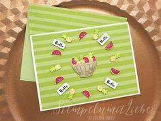 Stampin Up - Global Design Project - #124 - GDP #124 - Case the Designer - Karten und Umschläge Tuttifrutti - Produktpaket Gute-Laune-Korb - Wassermelone - Osterglocke - Limette ♥ StempelnmitLiebe