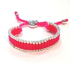 Bracelet fuchsia fluo