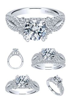 Beautiful from Every Angle...Come see this Gabriel Diamond Engagement Ring on Your Finger at Ben Garelick Jewelers BenGarelick.com