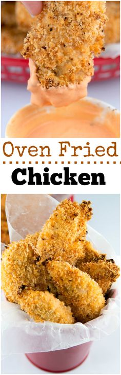 OVEN FRIED CHICKEN is down right delicious. This chicken has it all. It soars with a crispness that you never thought was possible when truly NOT frying it