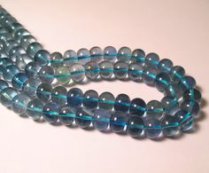 Superb Hard To Find London Blue Fluorite Chubby Big Fat Rondelle Beads