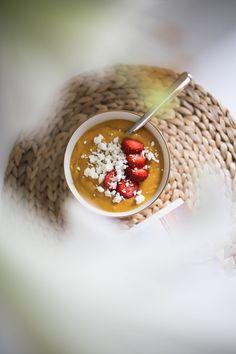 Tulinen bataatti-inkiväärikeitto – On my way My Way, Caviar, Panna Cotta, Fish, Meat, Ethnic Recipes, Dulce De Leche, Pisces