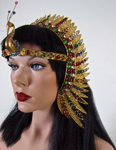 Vintage Cleopatra Egyptian Headdress or Head Crown Paris, France circa 1923-33 I would totally wear this though.