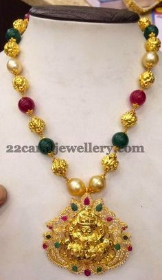 Jewellery Designs: 40gms Colorful Beads Long Set