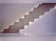 Concrete staircase inside a notary office by British architect John Pawson.