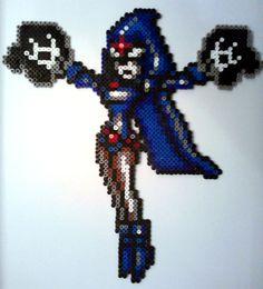 Fuse Bead Raven (Teen Titans) by ProbonoBear.deviantart.com on @deviantART