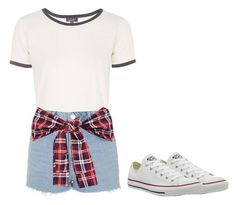 """""""Summer comfy style"""" by nicole-wu03 ❤ liked on Polyvore featuring Topshop, Converse, ootd, comfy, summerstyle, summer2015 and summervibes"""