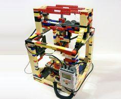 legobot, matthew kreuger, lego, 3dprinter, instructables   http://inhabitat.com/the-legobot-is-an-inexpensive-homemade-3d-printer/