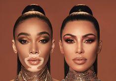 Kim Kardashian Winnie Harlow KKW Beauty Makeup | Fashion Gone Rogue Kourtney Kardashian, Kim Kardashian Photoshoot, Kardashian Jenner, Model Winnie Harlow, International Fashion, Celebs, Celebrities, Makeup Collection, Fashion News