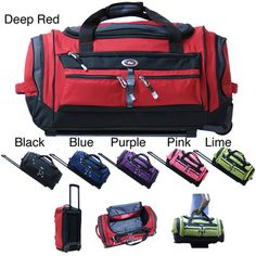 @Overstock - This convenient roller duffel bag offers plenty of storage in an easy-to-maneuver design. The retractable handle makes it easy to wheel around, and with the selection of vivid colors available, youll always be able to find your bag in a crowd.http://www.overstock.com/Luggage-Bags/CalPak-Terminator-Solid-26-Inch-Rolling-Upright-Duffel-Bag/3443086/product.html?CID=214117 $42.99