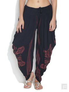 Harem / Dhoti Pants Kundalini Yoga Black