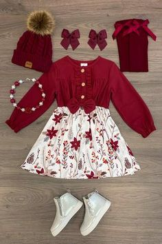 Shop cute kids clothes and accessories at Sparkle In Pink! With our variety of kids dresses, mommy + me clothes, and complete kids outfits, your child is going to love Sparkle In Pink! Toddler Girl Style, Toddler Girl Outfits, Baby Girl Dresses, Toddler Girls, Little Girl Outfits, Cute Outfits For Kids, Kids Christmas Outfits, Outfits Niños, Cute Baby Clothes