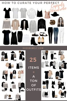 Build Your Perfect Capsule Wardrobe - Curate Your Capsule Wardrobe - FREE WORKBOOK - Free Printables- Free EBook - Minimalism Organization Declutter | www.shesbabely.com