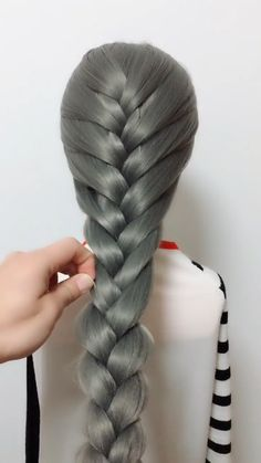 Today, we're gonna be doing a really, really pretty mixed braid, I hope you guys. Today, we're gon Half Updo Hairstyles, Sporty Hairstyles, Face Shape Hairstyles, Cute Girls Hairstyles, Creative Hairstyles, Braids For Long Hair, Long Curly Hair, Curly Hair Styles, Long Brown Hair