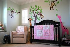 girls nursery jungle | Project For: Baby M Age: Arriving this January! Location: San Diego ...