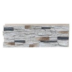 Superior Building Supplies Faux Grand Heritage 24 in. x 48 in. Stack Stone Panel Rustic - The Home Depot Stone Siding Panels, Faux Stone Siding, Faux Stone Walls, Stone Veneer Panels, Faux Brick, Stacked Stone Panels, Brick Projects, Dover White, Brick Paneling