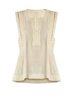 Isabel Marant Étoile Adonis embellished cotton-blend top